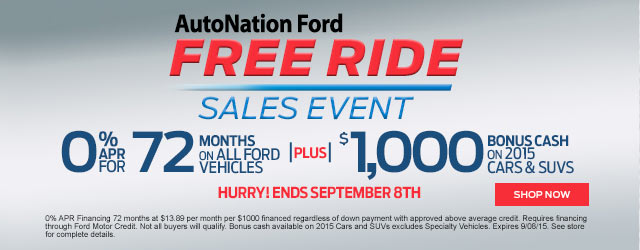 AutoNation Ford - Model Year End Sale