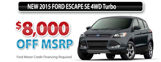 NEW 2015 FORD ESCAPE SE 4WD Turbo