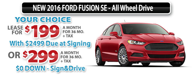 NEW 2016 FORD FUSION SE-All Wheel Drive