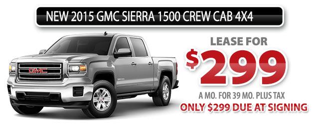 NEW 2015 GMC SIERRA 1500 CREW CAB 4x4