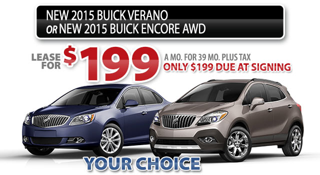NEW 2015 BUICK VERANO or 2015 BUICK ENCORE AWD