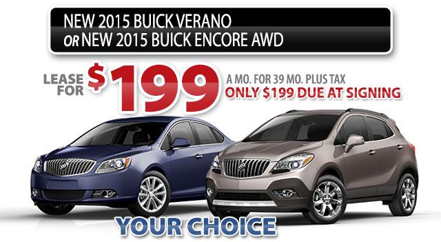 NEW 2015 BUICK VERANO or 2015 BUICK ENCORE AWD
