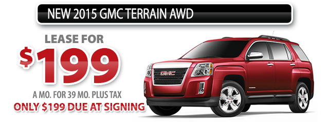 NEW 2015 GMC TERRAIN AWD