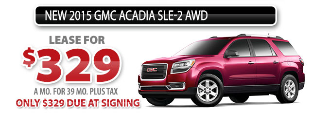 NEW 2015 GMC ACADIA SLE-2 AWD