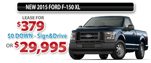 NEW 2015 FORD F-150 XL