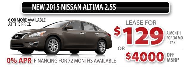 NEW 2015 NISSAN ALTIMA 2.5S