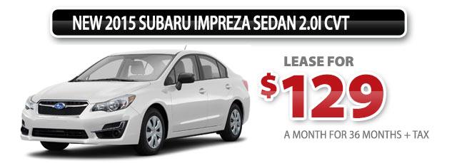 New 2015 Subaru Impreza Sedan 2.0i CVT