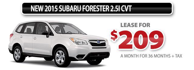 New 2015 Subaru Forester 2.5i CVT