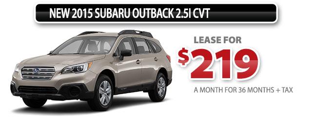 New 2015 Subaru Outback 2.5i CVT