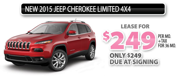 NEW 2015 JEEP CHEROKEE LTD 4x4
