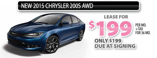 NEW 2015 CHRYSLER 200 S AWD