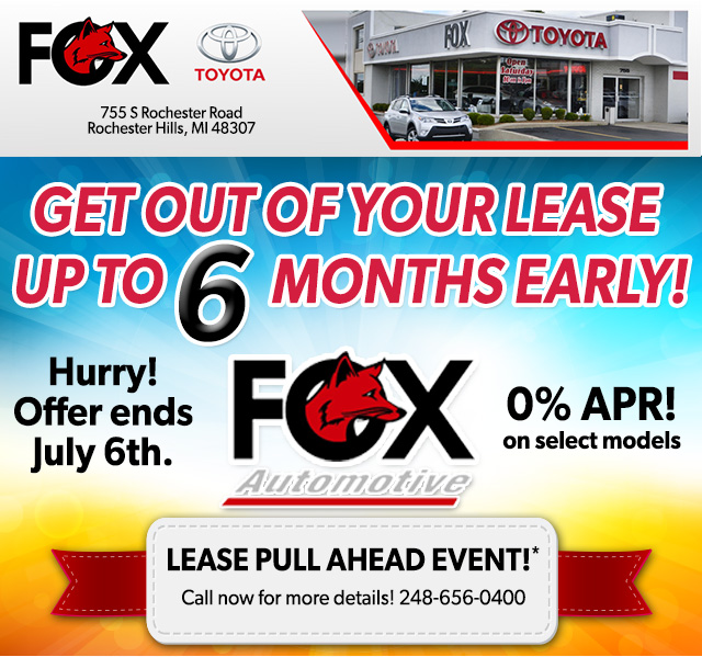 Fox Automotive Group Lease Pull Ahead Event
