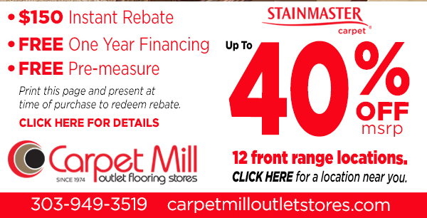 40% Off 12 front range locations