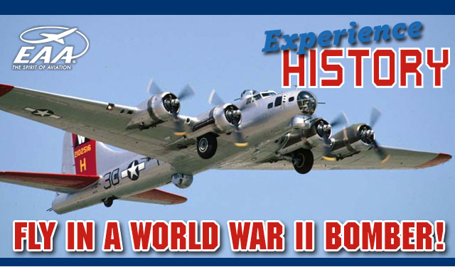 Experience History Fly in a World War II Bomber!